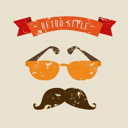 Ilustración de hipster design over cream background vector  illustration   - Imagen libre de derechos