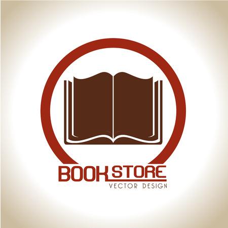 Illustration pour book store over beige background vector illustration  - image libre de droit