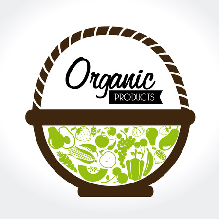 organic label over white background vector illustration