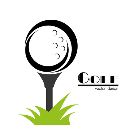 Ilustración de golf design over white background vector illustration - Imagen libre de derechos