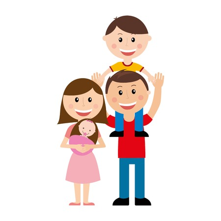 Photo pour family design over  white background vector illustration - image libre de droit