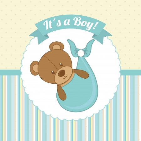 Photo for baby shower design over dotted background vector illustration   - Royalty Free Image