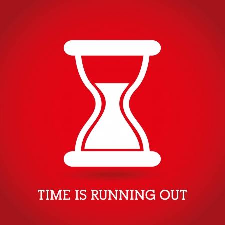Illustration pour time design  over red background vector illustration   - image libre de droit