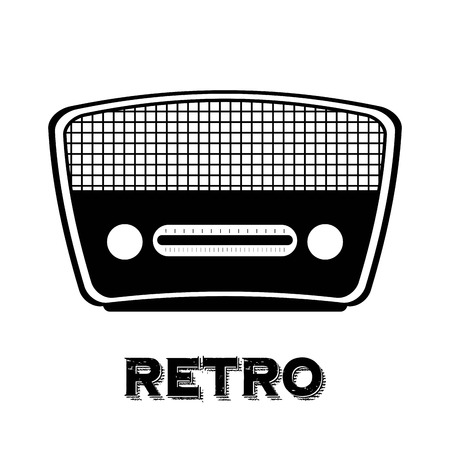 Illustration pour radio old  over white background vector illustration  - image libre de droit
