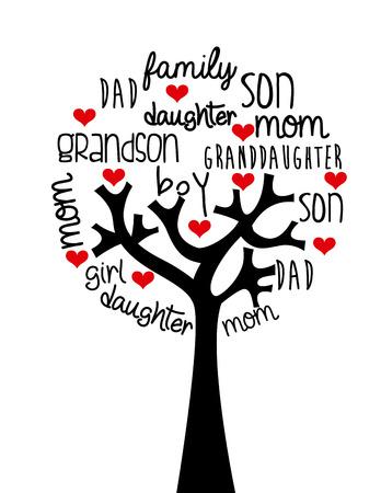 Ilustración de family design over  background, vector illustration - Imagen libre de derechos