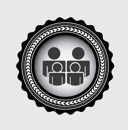 Illustration for Family design over gray background, vector illustration - Royalty Free Image