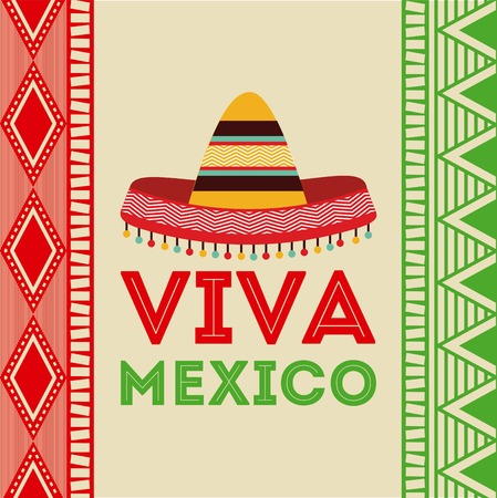 Illustration pour Mexico design over colorful background, vector illustration - image libre de droit