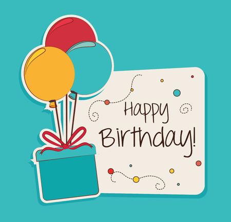 Illustration pour Happy birthday design over blue background ,vector illustration - image libre de droit