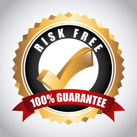 Illustration pour risk free over gray background vector illustration - image libre de droit