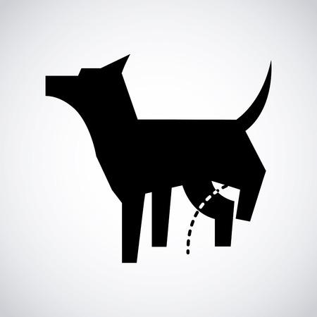 Ilustración de dog design icon ,vector illustration - Imagen libre de derechos