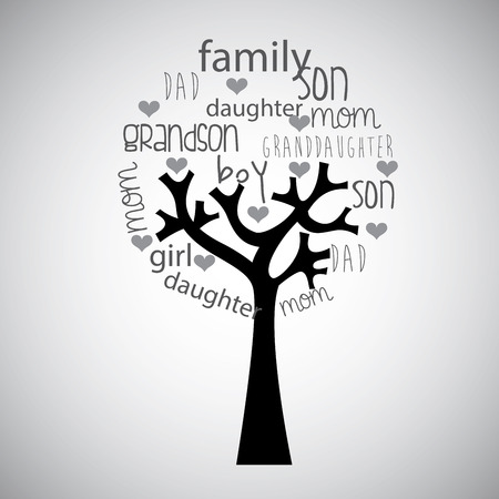 Illustration for family tree design , vector illustration - Royalty Free Image