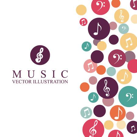 Illustration for music graphic design , vector illustration - Royalty Free Image