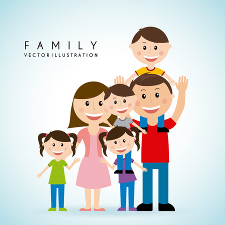 Foto de family graphic design , vector illustration - Imagen libre de derechos