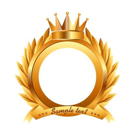 Illustration for award design , vector illustration - Royalty Free Image