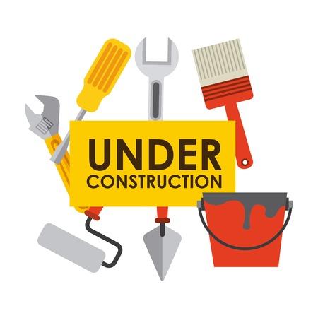Photo pour under construction design , vector illustration - image libre de droit