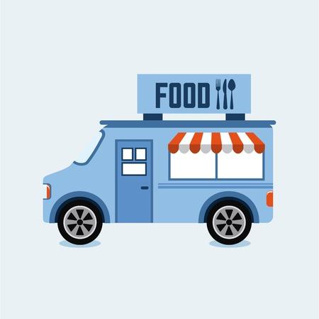 Illustration pour food truck design illustration - image libre de droit