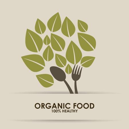 Illustration for organic food design - Royalty Free Image