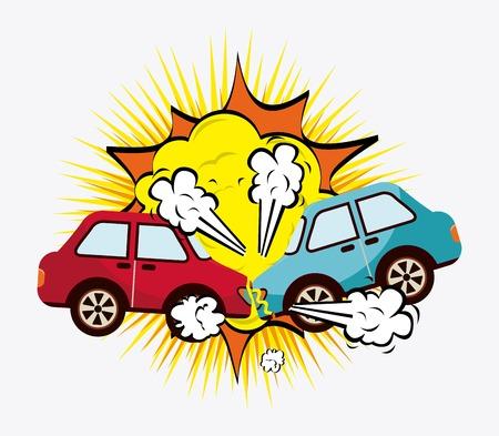 Illustration pour crash cars design, vector illustration eps10 graphic - image libre de droit