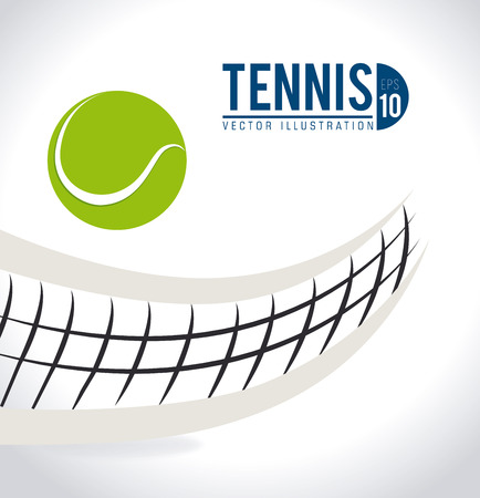 Illustration pour Tennis design over white background, vector illustration. - image libre de droit