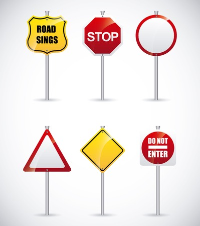 Illustration pour road signs design, vector illustration - image libre de droit