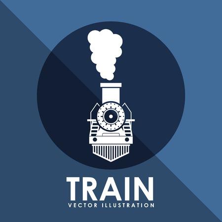 Ilustración de train icon design, vector illustration eps10 graphic - Imagen libre de derechos