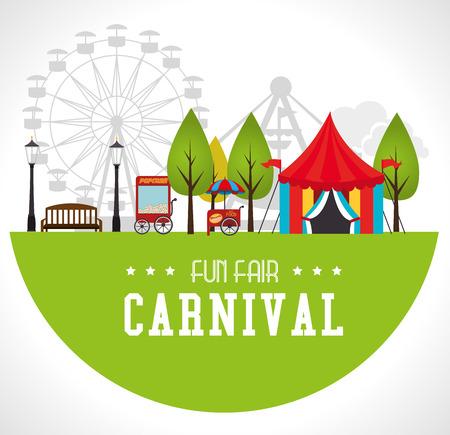 Illustrazione per Carnival design over white background, vector illustration. - Immagini Royalty Free