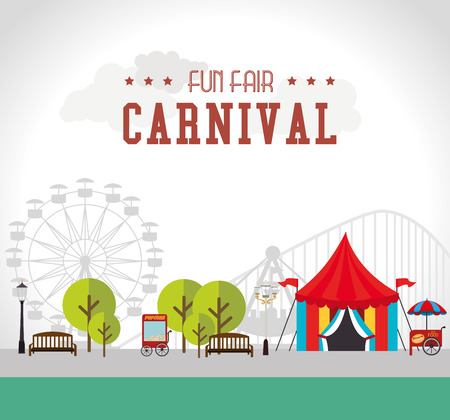 Illustration pour Carnival design over white background, vector illustration. - image libre de droit