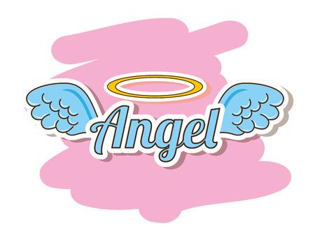 Illustration for cute angel design, vector illustration eps10 graphic - Royalty Free Image