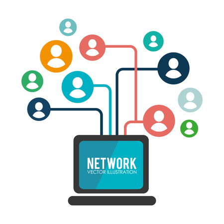 Illustration pour Social network design, vector illustration. - image libre de droit
