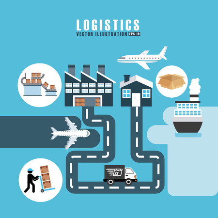 Foto de transport logistics design, vector illustration eps10 graphic - Imagen libre de derechos
