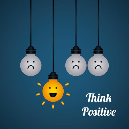 Illustration pour think positive design - image libre de droit