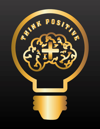 Illustration pour think positive design, vector illustration eps10 graphic - image libre de droit