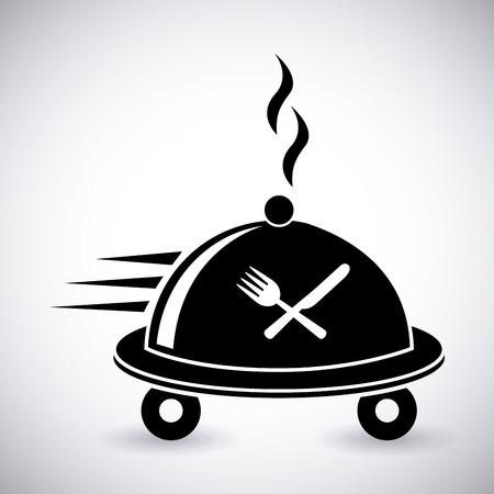 Ilustración de food delivery design - Imagen libre de derechos