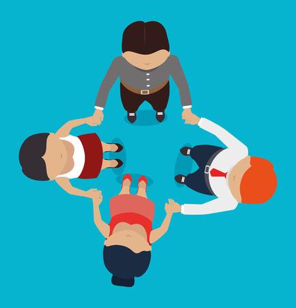 Illustration for Teamwork design, vector illustration. - Royalty Free Image