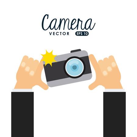 Ilustración de camera icon design, vector illustration eps10 graphic - Imagen libre de derechos