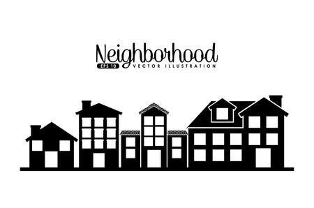 Ilustración de welcome neighborhood design, vector illustration  - Imagen libre de derechos