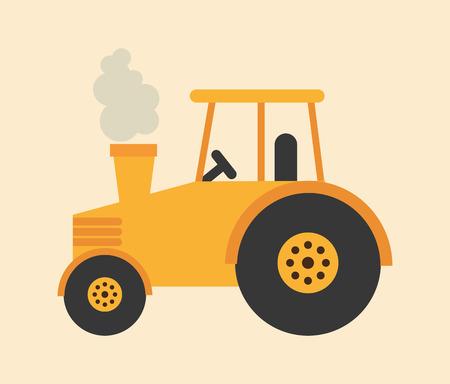Illustration pour tractor icon design, vector illustration eps10 graphic - image libre de droit