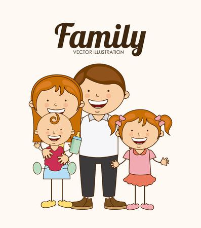 Illustrazione per family love design, vector illustration eps10 graphic - Immagini Royalty Free