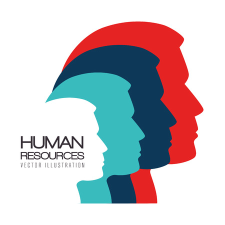 Ilustración de Human resources over white background, vector illustration. - Imagen libre de derechos