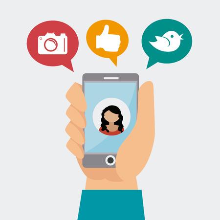 Ilustración de Social media design, vector illustration. - Imagen libre de derechos