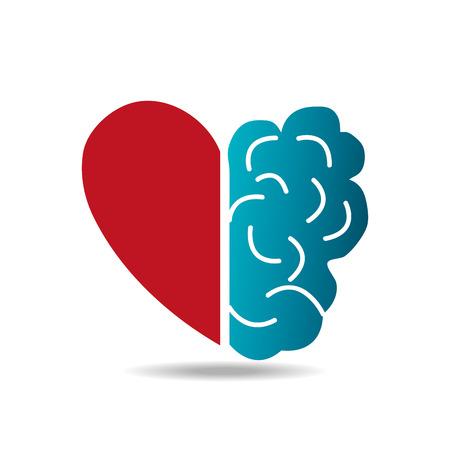 Illustration pour Brain design over white background, vector illustration. - image libre de droit