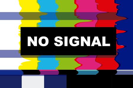 Illustration pour tv no signal design - image libre de droit