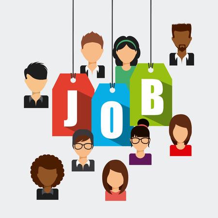 Ilustración de search job design - Imagen libre de derechos
