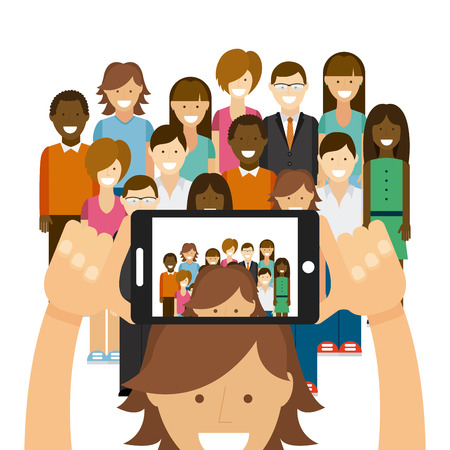 Photo for photo selfie design, vector illustration graphic - Royalty Free Image