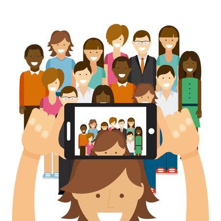 Ilustración de photo selfie design, vector illustration graphic - Imagen libre de derechos