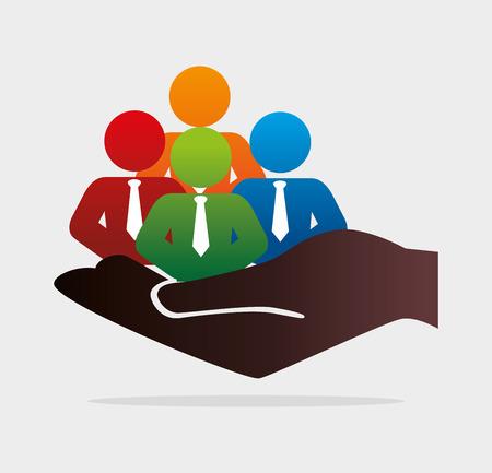 Ilustración de Human resources design over white background, vector illustration. - Imagen libre de derechos