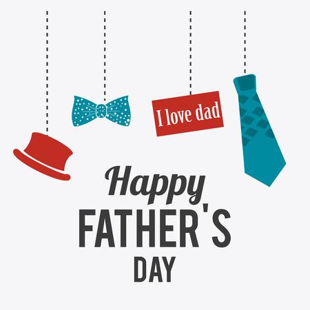 Illustration pour Happy fathers day card design, vector illustration. - image libre de droit