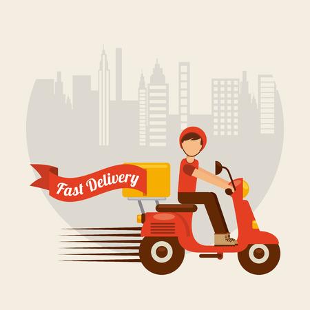 Ilustración de food delivery design, vector illustration eps10 graphic - Imagen libre de derechos