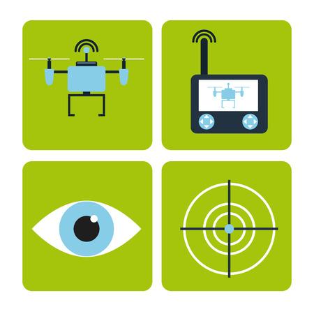 Illustration pour drone technology design, vector illustration eps10 graphic - image libre de droit