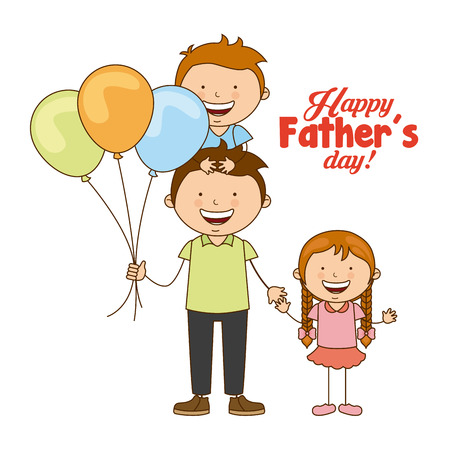 Illustration pour fathers day design, vector illustration eps10 graphic - image libre de droit